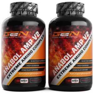 2x Anabol AMP V2 = 360 Kapseln - Amino Komplex - Muskelaufbau + Booster