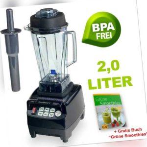 JTC Power Mixer Blender Smoothie Maker TM-800A 2,0l BPA-Frei schwarz +Buch