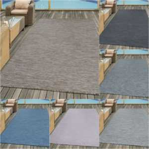 Flachgewebe In- und Outdoor Teppich Sisal Optik Natürlicher Look Uni Farben