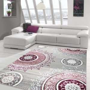 Designer Teppich Moderner Teppich Wohnzimmer Teppich Klassisch gemustert Kreis O