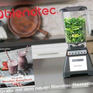Blendtec Standmixer Total Blender 2,6 Liter Behälter +Säfte & Smoothies schwarz