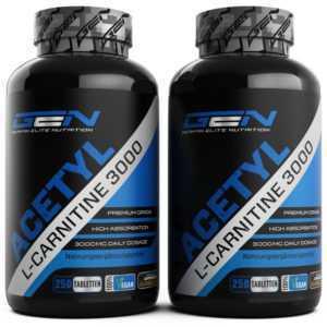 2x Acetyl L-Carnitine 3000 = 500 Tabletten - Aminosäure - Fatburner - Vegan