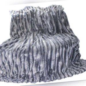 XL Doppelseitige Felldecke Nerzoptik Kuscheldecke Wohndecke Pelzimitat 150 x 200