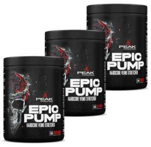 Peak - EPIC Pump 500 g - Trainings Booster Pre Workout Hardcore NEU ALLE SORTEN
