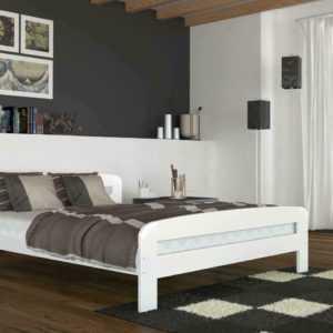 Modern Einzelbett Doppelbett Ehebett 90x200 bis 180x200 Matratze und Lattenrost