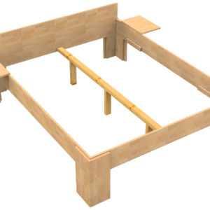 Massivholz Bett 200x200 Doppelbett Buche massiv Echt Hozbett Vollholzbett Fuß I
