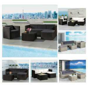Polyrattan Gartenmöbel Lounge Rattan Gartenset Sitzgruppe Rattanmöbel ArtLife®