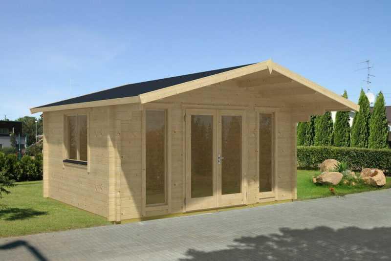 Gartenhaus BAMBERG 2, 470x470 cm, 70 mm Blockbohlen, inkl. Boden