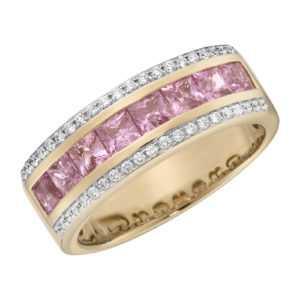Creazione Bijoux 750 Gold rot Ring Saphir Safir Diamant Brillant 18 Karat Rose