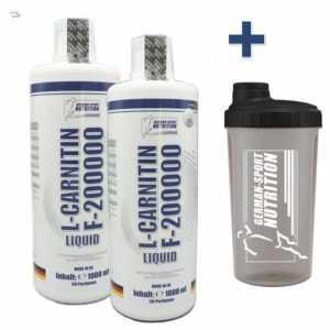 2 L Fettverbrennung L-Carnitin Liquid F 200.000 - Hochdosiert  Carnitine flüssig