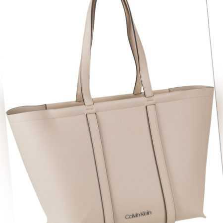 Calvin Klein Handtasche Slide Shopper Light Sand ab 119.00 () Euro im Angebot