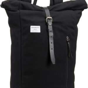 Sandqvist Laptoprucksack Dante Backpack Black/Balck Leather (18 Liter) ab 103.00 (119.00) Euro im Angebot