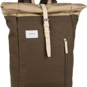 Sandqvist Laptoprucksack Dante Backpack Multi Olive/Natural Leather (18 Liter) ab 103.00 (119.00) Euro im Angebot