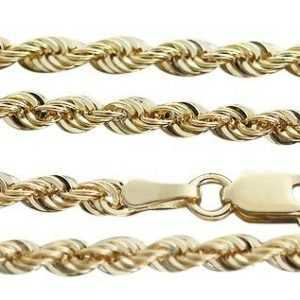 Walliskette Gold 585 oder 333 Goldkette funkelnde Kordelkette Kette 45 / 50 / 55