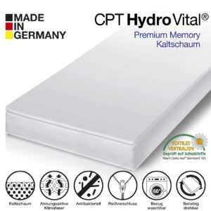 CPT HydroVital 12 Wellness Komfort Plus Kaltschaum Matratze 180x200 H3