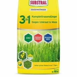 (3,93€/1kg) SUBSTRAL® 3in1 Komplettrasendünger 14kg Dünger Rasen Moos Unkraut
