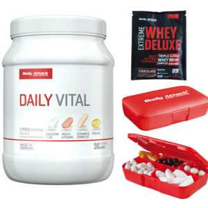 Body Attack Attack Daily Vital 30 Packs Mineralien Vitamine +Tablettenbox +Probe