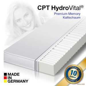 7 Zonen HydroVital12 Wellness Komfort Kaltschaum Matratze 90x200 - H2 mittel