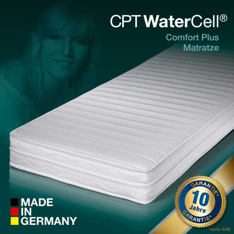 CPT WaterCell® Wellness Dream Comfort Plus Kaltschaum Matratze 90x200 H3