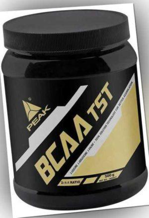 PEAK BCAA TST Pulver Dose / Aminosäuren Amino Leucin Valin Isoleucin + B6 500 g