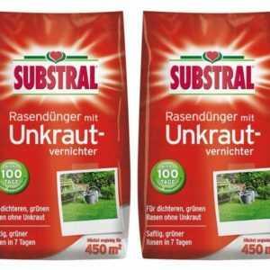 (5,22€/1kg) SUBSTRAL® Rasendünger mit Unkrautvernichter 18 kg Dünger Rasen