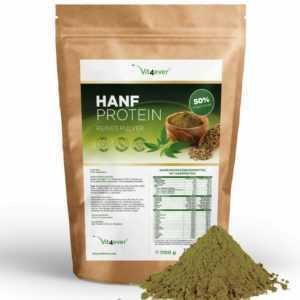 HANFPROTEIN 2,2kg / 2200g - 50% Proteingehalt - Reines Hanf Protein Pulver VEGAN