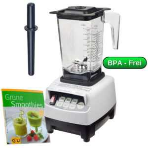 Profi YaYago JTC Omniblend Mixer Smoothie-Maker Weiß 1,5 L  BPA-frei Blender