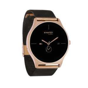 X-WATCH Joli XW Pro Black schwarz Smartwatch Fitnesstracker Android iOS gold
