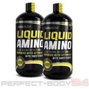 (15€/L) 2x BioTech USA Liquid Amino 1 Liter Flasche Aminosäuren Amino Vitamine