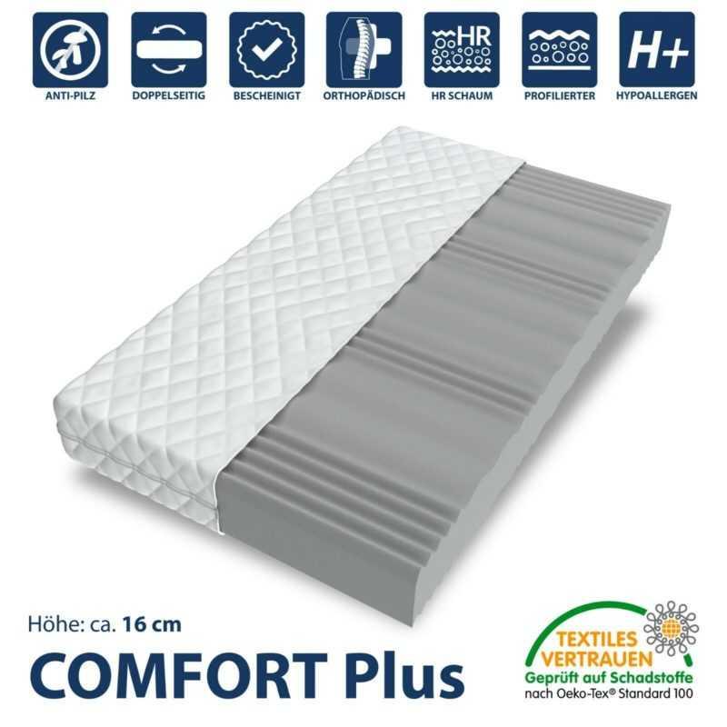Matratze COMFORT Premium 80x200 cm 7 Zonen H3 Marken Kaltschaum Wellness NEU