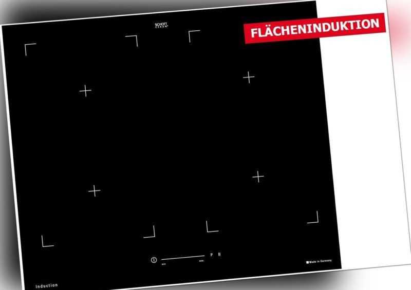 VLANO Flex Induktionskochfeld Domino Glaskeramik Kochplatte autark Booster Timer