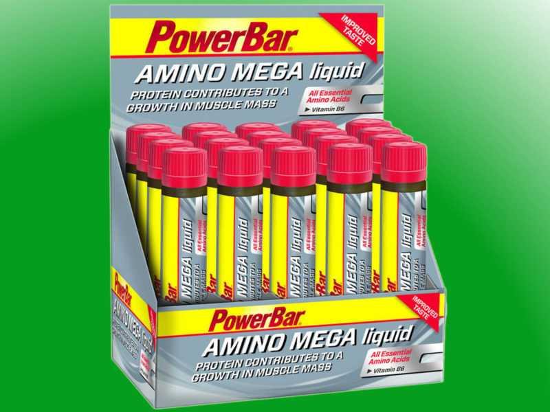 (59,80€/l)   Powerbar Amino Mega Liquid Box - 20 x 25ml Ampulle