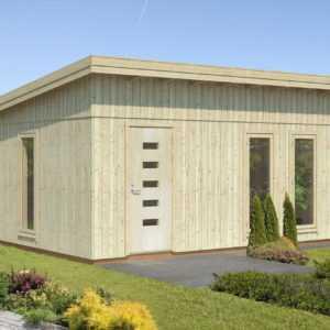 Palmako Gartenhaus ANNIKA 21,5 m2, 448x548cm, 160mm Wandelemente vorgefertigt