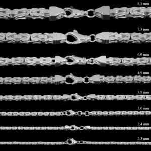 Königskette Silber Kette Herren 925 Sterling Silber massiv Halskette o. Armband