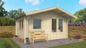 Topgarden Premium Gartenhaus BALTRUM4x3 m Innenmaß/ 50mm Wände / ISO Verglasung