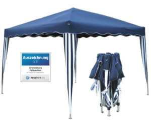 Klapp Falt Pavillon Dachmaß 3x3m Gartenzelt Partyzelt Party Zelt Pavillion Blau