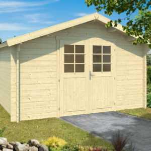 34 mm Gartenhaus ca. 400x300 cm Holz Gerätehaus Blockhaus Schuppen Holzhaus Neu