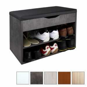 Schuhregal mit Sitzfläche Aufklappbar Schuhschrank Sitz Flur WM032 Schuhablage