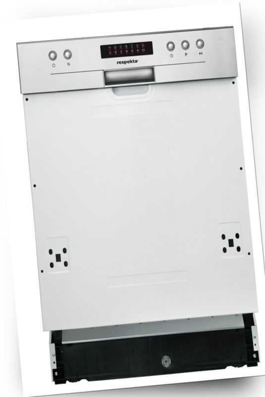 Geschirrspüler Spülmaschine Einbauspülmaschine teilintegriert 45 cm A++ respekta; EEK A+++