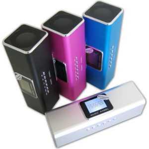 Music Angel Mini Stereo Lautsprecher Akku Speaker für Handy, Smartphone, Tablet