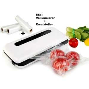Set Folienschweissgerät+Ersatzfolien Vakuumierer Foodlocker Vakuumiergerät NEU