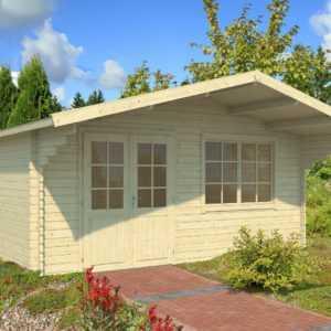 40 mm Gartenhaus 505x445 cm Gerätehaus Blockhaus Schuppen Holzhaus Holz Neu