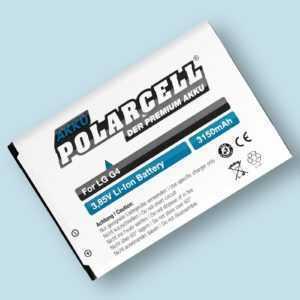 PolarCell Akku für LG G4 H815 G4 Dual Sim H818P G4 Stylus H635 BL-51YF Batterie