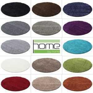 Hochflor Shaggy Rund Teppich  Carpet  Wohnzimmer vers. Farben & Größen Neu