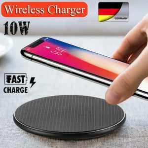 Qi Wireless Charger Ladestation Induktive SchnellLadegerät Für iPhone / Samsung