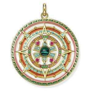 """THOMAS SABO Anhänger """"Amulett"""", 925/- Sterlingsilber,Vergoldet, PE801-470-7"""
