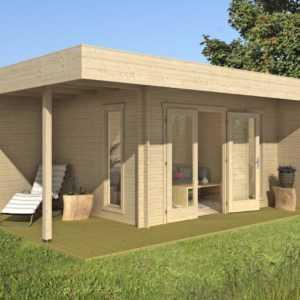 34 mm Gartenhaus Paris 600x430 cm Gerätehaus Holzhaus Blockhaus Holz + Fussboden