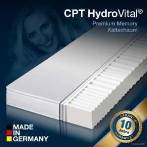 7 Zonen HydroVital 12 Wellness Komfort Kaltschaum Matratze 90x200 H2