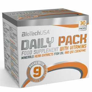 BioTech USA Daily Pack All in One - 30x MSM Flachsöl Vitamin E C Zink Health