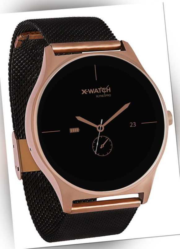 Xlyne Pro Smartwatch X-Watch Joli XW Pro Android IOS schwarz gold